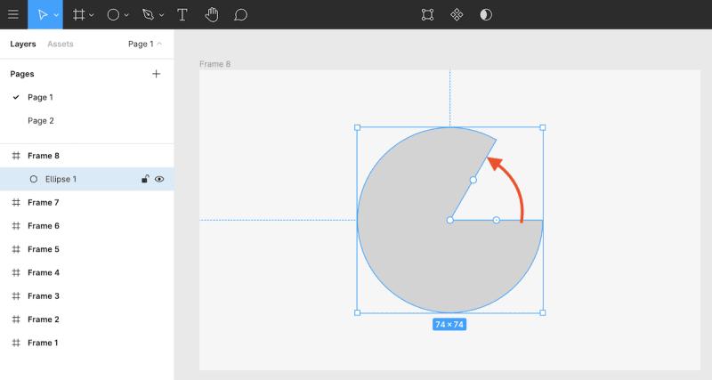楕円をカスタマイズ