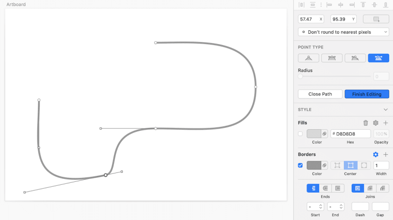 ベジェ曲線 Asymmetric