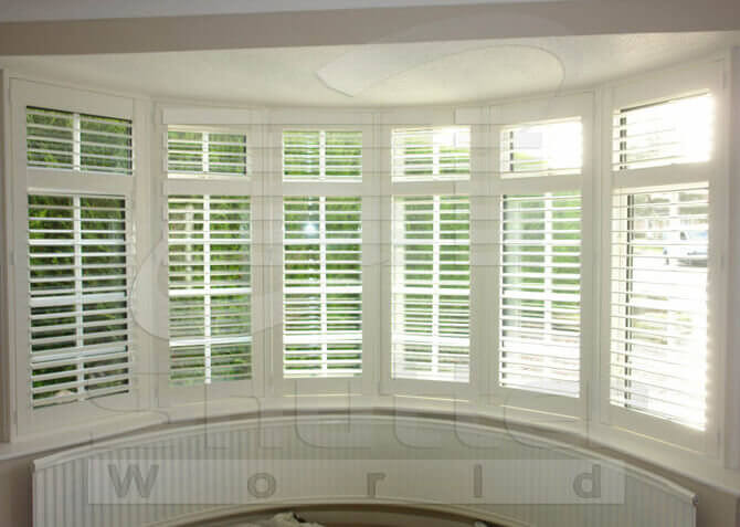 curved bay shutters