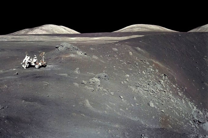 In December of 1972, Apollo 17 astronauts Eugene Cernan and Harrison Schmitt spent about 75 hours on the Moon in the Taurus-Littrow valley, while colleague Ronald Evans orbited overhead. This sharp image was taken by Cernan as he and Schmitt roamed the valley floor. The image shows Schmitt on the left with the lunar rover at the edge of Shorty Crater, near the spot where geologist Schmitt discovered orange lunar soil. The Apollo 17 crew returned with 110 kilograms of rock and soil samples, more than was returned from any of the other lunar landing sites. Now forty years later, Cernan and Schmitt are still the last to walk on the Moon.