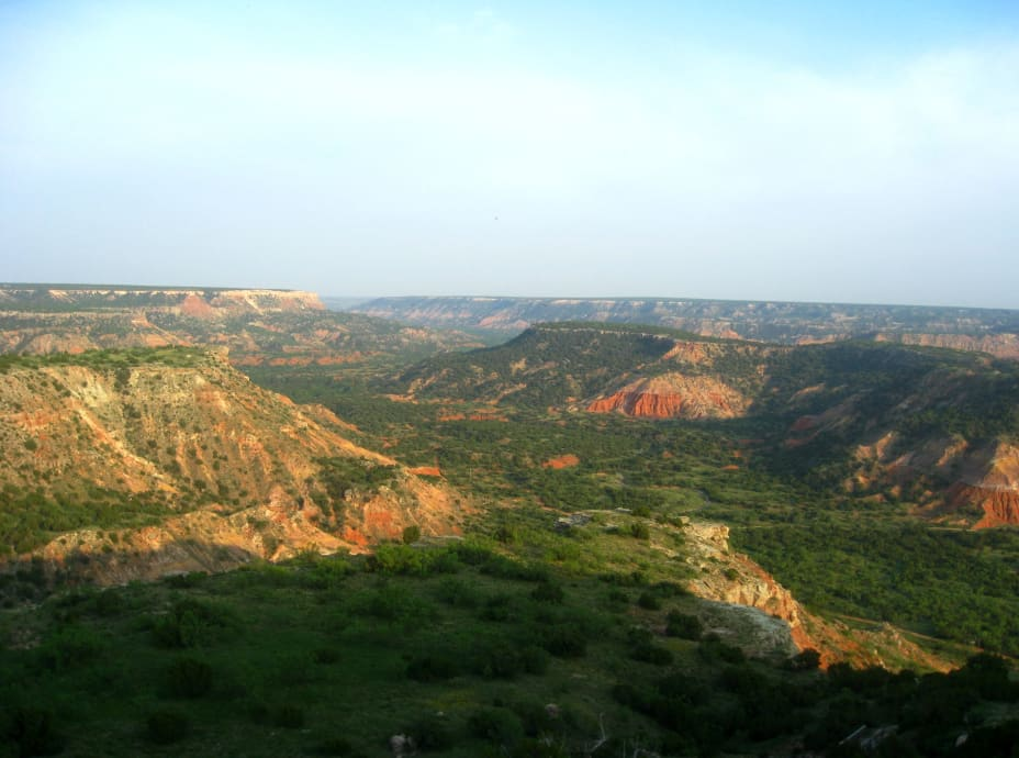 Palo Duro canyon panorama view