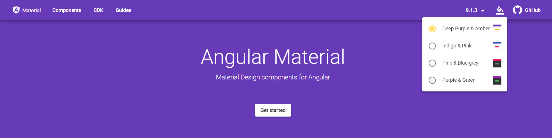 Theme Picker on material.angular.io