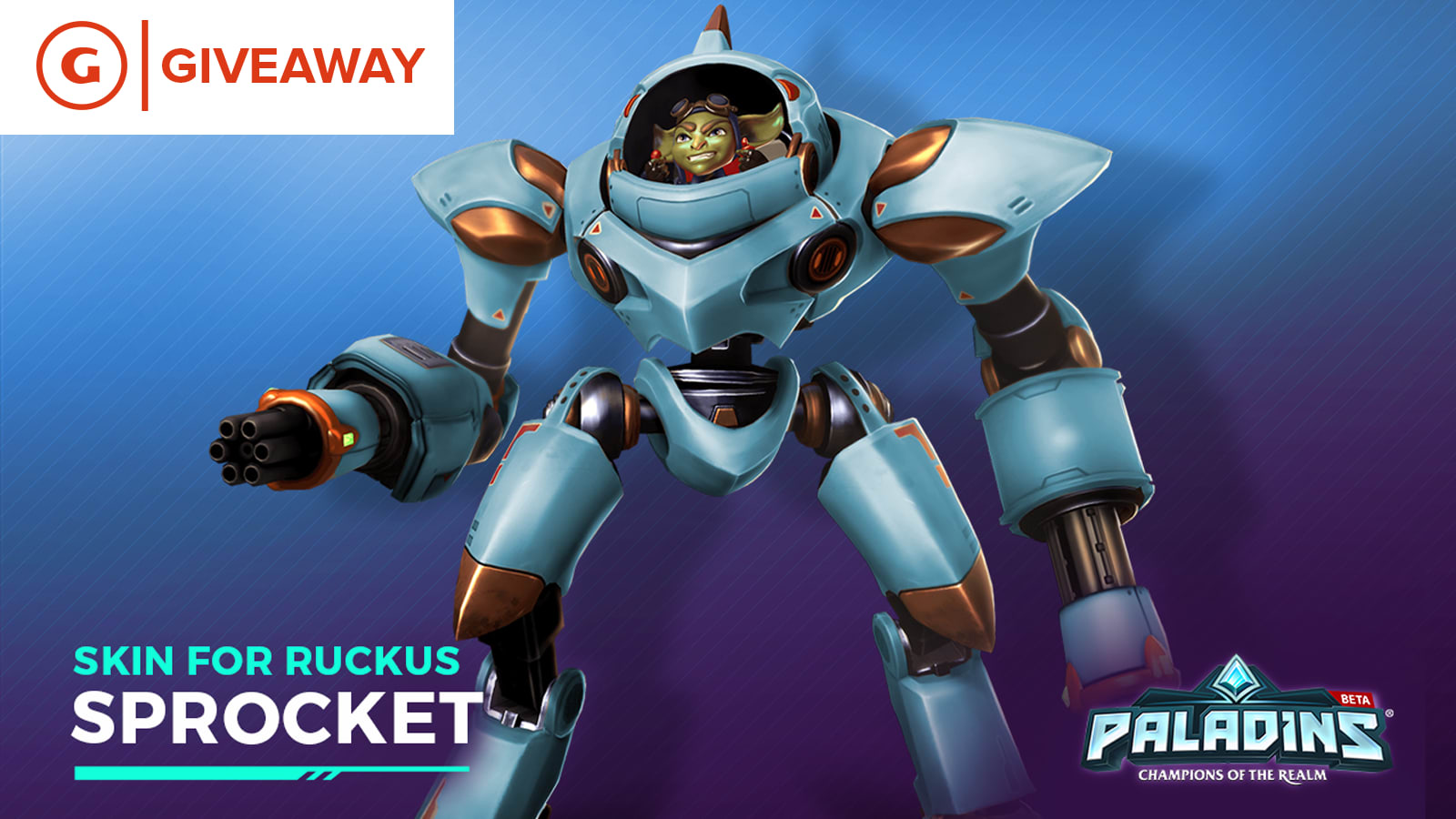 Paladins Sprocket Ruckus Skin Giveaway (PC/PS4/Xbox One) - GameSpot