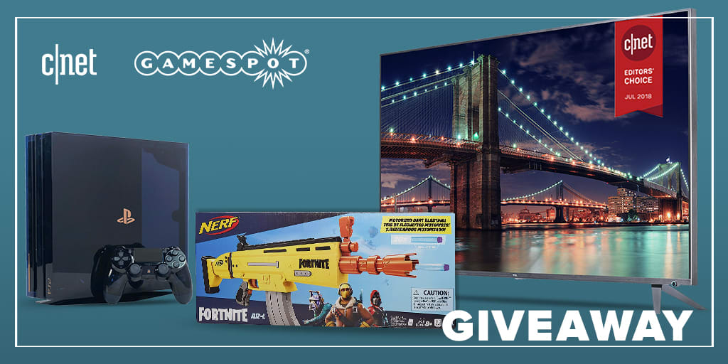 Giveaway: 65-Inch TCL TV, PS4 Pro, Nerf Fortnite blasters