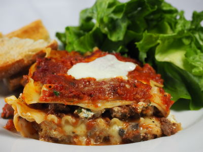 Lasagna with Mushroom Bechamel Sauce