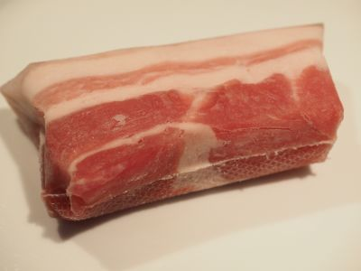 Commercially Brined Salt Pork