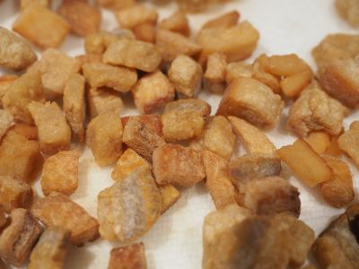 Crispy Cubes of Fried Salt Pork