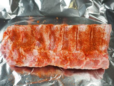 Coat the Underside of the Ribs with Rub