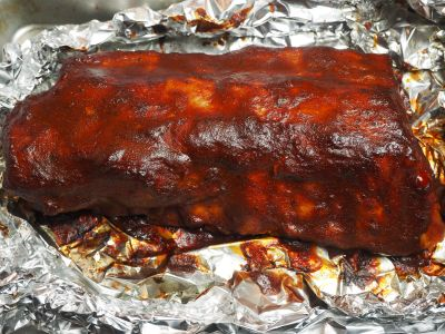 Finished Ribs Almost Ready to Eat