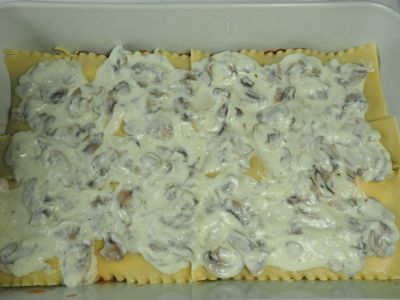 Spread on the Mushroom Bechamel Sauce