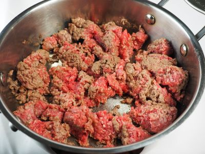 Brown the Meat in the Pan