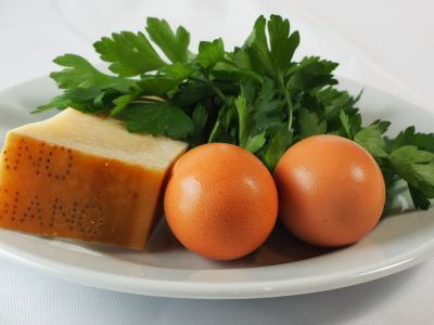 Parmigiano Reggiano, Eggs and Italian Parsley