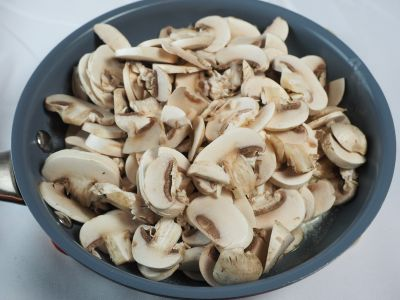 Add the Mushrooms to the Melted Butter