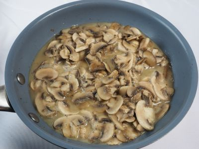 Sauteed Mushrooms with Moisture from the Cooking Process