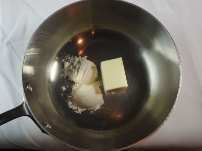 Butter and Flour for the White Sauce