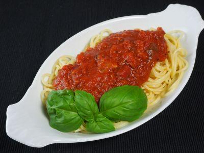 Spaghetti Sauce Over Pasta