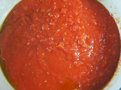 Add the Tomatoes and the Water to the Pot