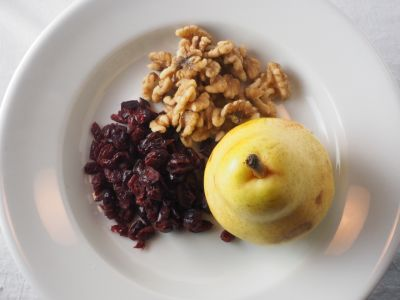 Pear, Walnuts and Dried Cranberries