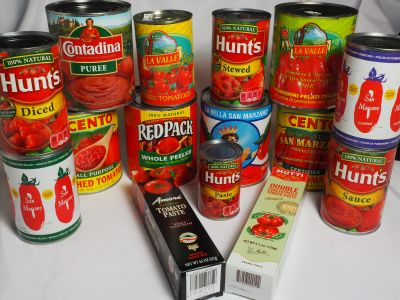 Some of the Many Varieties of Canned Tomatoes Readily Available