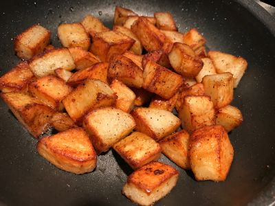 Potatoes Ready in the Pan