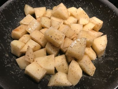 Potatoes Tossed Initially with the Butter and Oil