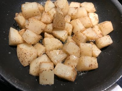 Potatoes Tossed at 5 Minutes