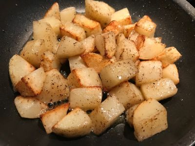 Potatoes Tossed at 10 Minutes