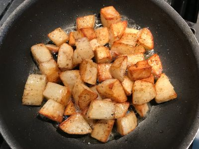 Potatoes Tossed at 15 Minutes
