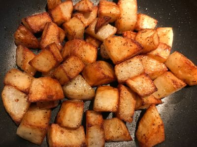 Potatoes Tossed at 25 Minutes