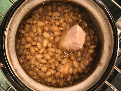 Beans After Adding the Water