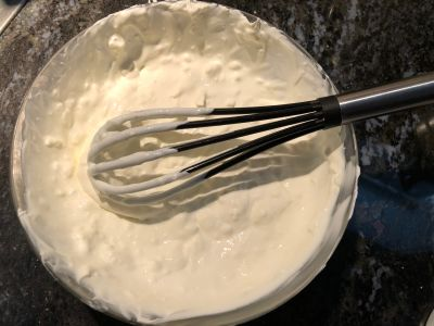 Thoroughly Mix the Sour Cream and the Cream Cheese
