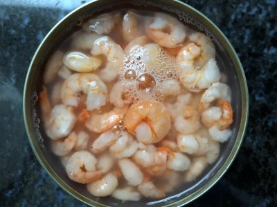 Canned Shrimp with Liquid