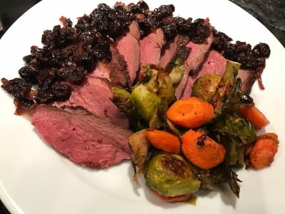 Plated w Brussel Sprouts