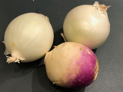Onion and Turnip Before Prep