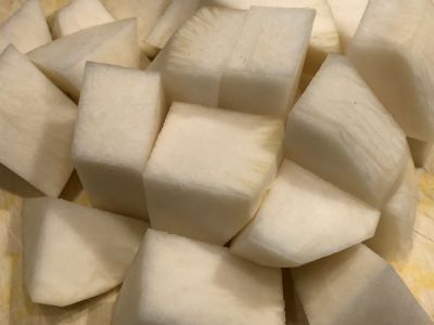Turnips Cut into Chunks