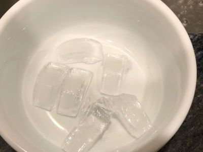 Add a Few Ice Cubes to the Water if Your Tap Water is Not Cold Enough