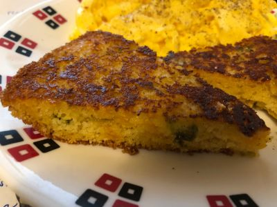 Grilled Cornbread Slices