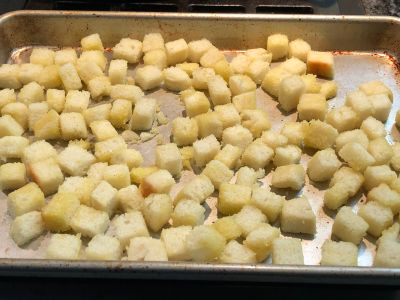 Croutons Ready for the Oven
