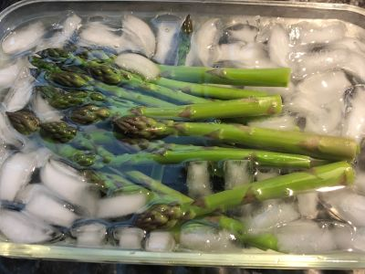 Remove the Asparagus to the Ice Bath