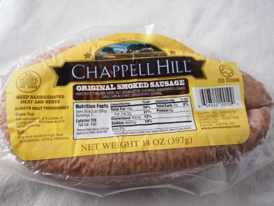 Chappell Hill Sausage in the Package