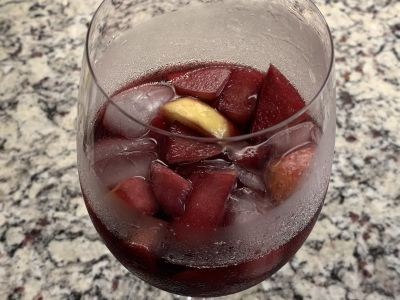Glass of Ice Chilled Sangria