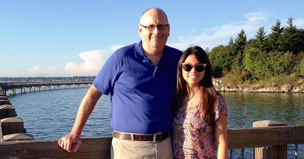 David Jennings and his eldest daughter