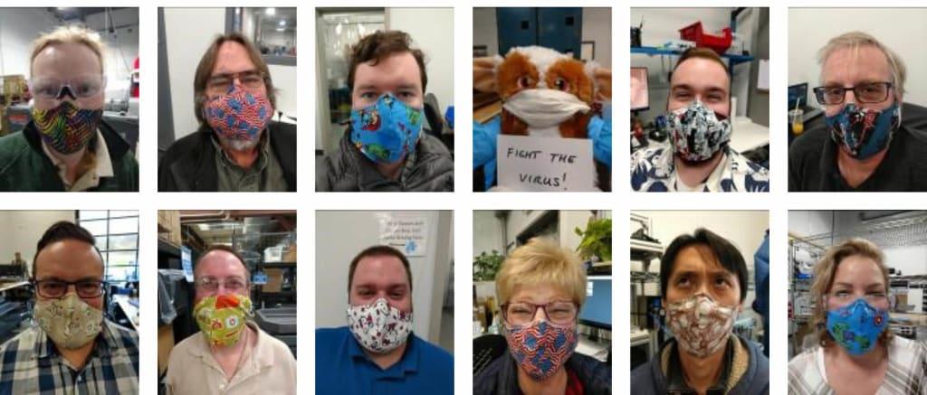employees wearing sigmadesign masks