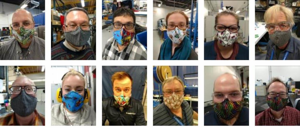 sigmadesign employees wearing masks 1