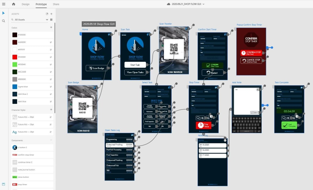 interactive prototyping in adobe xd