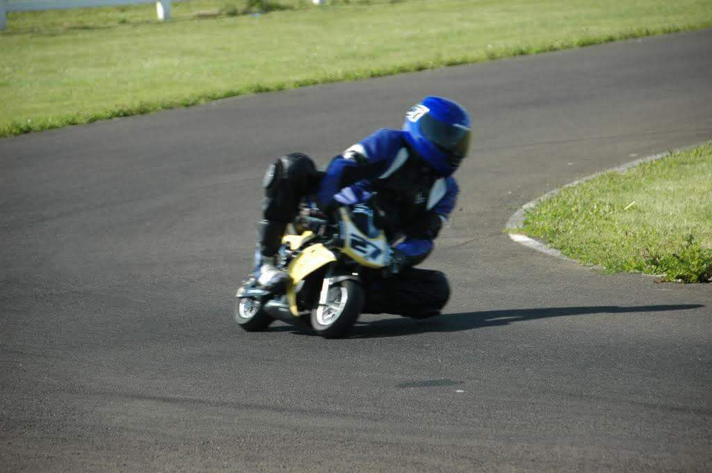 Here is Jamie minimoto racing