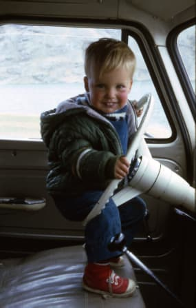 Image of Doug Hill as a lad in Bolivia, 1967