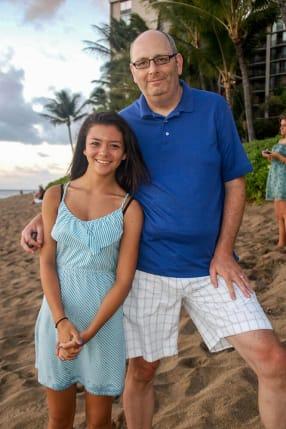 David Jennings and his daughter in Hawaii