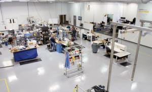 lab assembly area at sigmadesign