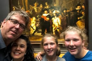 Mark Groenenboom and family at the Rijksmuseum in Amsterdam - Employee Spotlight
